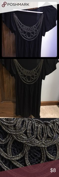 Nordstrom t-shirt Stretchy and flowy with gold embroidery Soprano Tops Tees - Short Sleeve