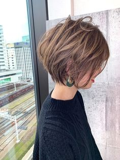 "20 Latest Short Hairstyles That Will Make You Say ""WOW"" - Short Hairtyles - festa Short Brown Hair, Short Straight Hair, Short Hair With Layers, Short Hair Cuts, Asian Short Hair, Short Wavy, Latest Short Hairstyles, Short Bob Haircuts, Pixie Bob Haircut"