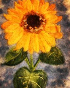 Needle felted sunflower