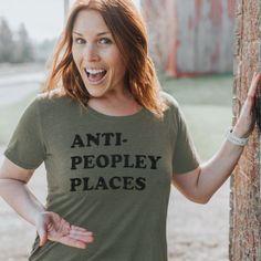 ANTI- PEOPLEY PLACES t-shirt - Medium