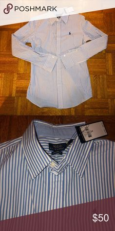 e36e48a1ef5 New Shirt Polo Ralph Lauren size 2 white blue Perfect to wear for special