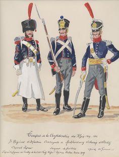 Caporale degli zappatori, sergente dei fucilieri e granatiere del Mecklemburg