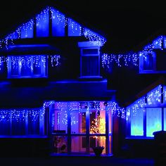 26 best blue icicle christmas lights images on pinterest christmas ledwholesalers feet 150 led icicle christmas holiday lights with green wire white set of led icicle christmas chanukah and holiday lights for h aloadofball Choice Image