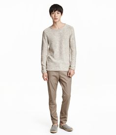 Chinos in stretch cotton twill with a regular waist and zip fly. | H&M For Men