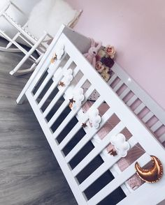Ready for Baby A to arrive _ Don't you love it? >> Cloud Star and Moon garland available in our shop in silver gold or rose gold