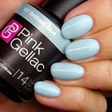 Pink Gellac 187 Brilliant Blue voorbeeld potje hand baby bla