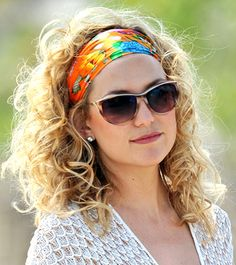 Make a scarf into a headband and let your natural hair shine a la Kate Hudson.