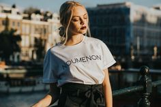 Change the world, and look amazing while you do it. This Noumenon Tee is classic crispy white and made from organic cotton. - Green Fashion by NOUMENON #vegan #veganfashion #ethicalfashion