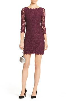 DVF | The ultimate party dress, the stretch lace Zarita is one of our most popular styles.   http://on.dvf.com/198b4P6