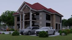 Tv Showcase, Layout Site, House Floor Design, Photo 3d, Dar Es Salaam, Monster House Plans, Roof Plan, Kuta, Front Elevation