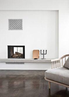 DECOR TREND: Minimalist fireplace   My Paradissi