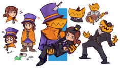 Cute Games, Funny Games, Best Games, A Hat In Time, Art Memes, Girl With Hat, Time Art, Esports, Drawing Reference