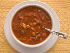 Red Pepper And Chickpea Soup