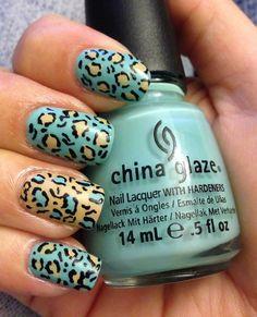 Facil uñas tipo leopardo