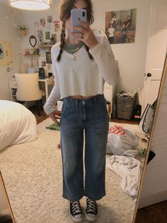 Retro Outfits, Stylish Outfits, Cool Outfits, Fashion Outfits, Winter Fits, School Fashion, Types Of Fashion Styles, Aesthetic Clothes, Autumn Fashion