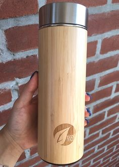NEW Bamboo Tumbler with Tea Infuser and Strainer by EcoPal Cold Drinks, Beverages, Unisex Gifts, Tea Infuser, Loose Leaf Tea, Tumbler, Bamboo, Water Bottle, Stainless Steel