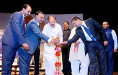 The Union Minister for Urban Development, Housing & Urban Poverty Alleviation and Information & Broadcasting, Shri M. Venkaiah Naidu lighting the lamp to inaugurate the GST Nationwide programme, on the occasion of the Chartered Accountants' Day, in Hyderabad on July 01, 2017.   #babus of india #BUREAUCRACY ENWS #bureaucrats #CHARTERED ACCOUNTANTS DAY #current affairs #DELHI JAL BOARD BILL #GOODS AND SERVICES #Goods and Services Tax #GST #GST LAUNCH #GST NATIONWIDE LAUNCH