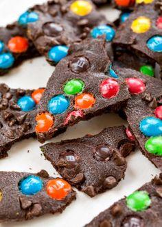 M&M Brownie Brittle   #easy #dessert #recipe #shop