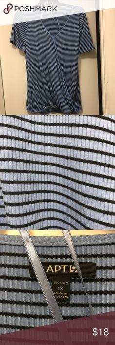 APT 9 Blue Striped women's shirt APT 9 Blue Striped women's shirt Apt. 9 Tops Tees - Short Sleeve