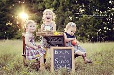 Back to School Photos Awww this is a cute for my little gang of three home schoolers lol♡♡♡