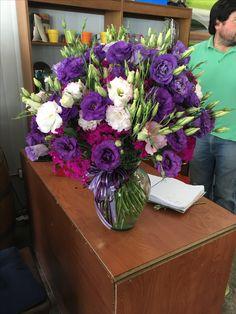 Primera comunión en violeta y lila