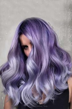 67 tempting and attractive purple hair looks hair hair color Pastel Purple Hair, Hair Color Purple, Black To Purple Hair, Light Purple Hair, Violet Hair Colors, Color Black, Purple Ombre, Gray Hair, Deep Purple