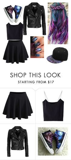 """""""Galaxy hair and outfit"""" by dark-rainbow-ninja ❤ liked on Polyvore featuring WithChic, IRO and HVBAO"""
