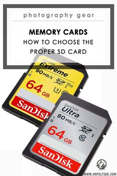 An explanation of the different types of SD cards, and how to choose a memory card based on your needs & style. Camera Hacks, Slr Camera, Photo Tips, Photo Ideas, Photography Tools, Things To Know, Sd Card, Photo Book