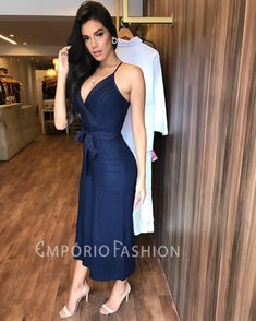 Image may contain: 1 person, standing Cute Dresses, Casual Dresses, Fashion Dresses, Party Frocks, Summer Outfits, Summer Dresses, Jumpsuit Outfit, The Dress, Passion For Fashion