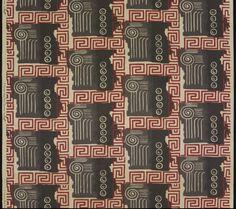 "Mary Mattis for Greeff Fabrics, Inc., ""Olympic,"" 1933-50. Printed cotton. Courtesy Yale University Art Gallery"