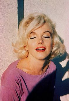 Fun shot of Marilyn in pink.
