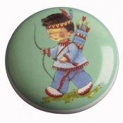 living colour keramik möbelknopf indianer grün