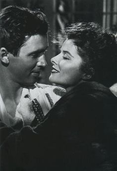 Jimmy Stewart and Katherine Hepburn