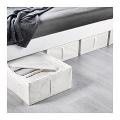 IKEA - SKUBB, Tasche, weiß, , Die Tasche passt unter das Bett und eignet sich für Kissen, Decken usw.Dank des Griffs einfach herauszuziehen und zu verschieben.Schützt Kleidung vor Staub.Netzgewebe an den Seiten lässt Luft zirkulieren; so bleiben Textilien in der Tasche frisch und gepflegt.