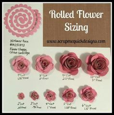 Cricut paper flowers 12 Free rolled flower svg Templates – DIY PaperHow to Make Cricut Paper Flowers (All Flower Tutorial: Storybook Paper Roses Rolled Paper Flowers, Paper Flowers Diy, Felt Flowers, Diy Paper, Fabric Flowers, Paper Crafts, Scrapbook Paper Flowers, Potted Flowers, How To Make Paper Flowers