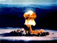 Atomic bomb test in Nevada 1953 - U-K Grable test -thousands of sheep were killed by the effects of these test blasts in Nevada. The resulting court case of Bulloch v. United States lasted for 30 years