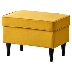 IKEA furniture and home accessories are practical, well designed and affordable. Here you can find your local IKEA website and more about the IKEA business idea. Fabric Armchairs, Fabric Ottoman, Ottoman Footstool, Chair Cushions, Chair Pads, Strandmon Ikea, Yellow Ottoman, Chairs, Chaise Longue
