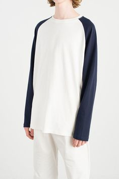 Menswear | Pastel Raglan Tee, Marine