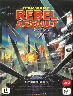 Vintage Lucas Arts Star Wars Rebel Assault With Imperial Pursuit & X Wing Classic Video Games, Retro Video Games, Retro Games, Vintage Games, Starwars, Saga, Star Wars Video Games, Sega Cd, Lucas Arts