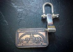 Copper Coin Ingot Key Ring, 1oz, State Mint, America Key Ring, 100 Dollar Bill Key Ring, Franklin Key Ring, Ingot Keyring, Key Fob,Key Chain