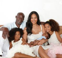 Kimora Lee and Djimon Hounsou have reportedly separated. According to the NY Daily News,the couple are no longer together. Mixed Families, Black Families, Cute Family, Beautiful Family, Baby Family, Black Man, Black Celebrities, Celebs, Biracial Children