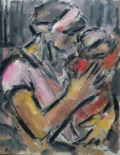 Ghislaine Howard, Woman in Pink with Child | Paintings For Sale | Specialists In Modern British Art | Gateway Gallery Ltd