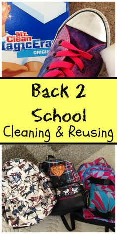 Back to school tips on reusing, repurposing, and using what you already have.
