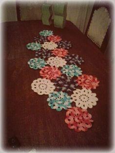 trio de mesa flores