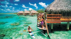 Manihi, French Polynesia - I'd dangle my feet off the deck while reading a book, heaven...