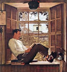 Willie Gills in College by Norman Rockwell