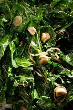 Collard Greens (or any greens!) with Honey, Shallots and Mushrooms. The Southern Vegetarian