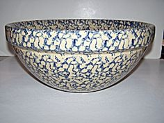 Robinson Ransbottom 15 Inch Blue Spongeware Mixing Bowl . Click on the image for more information.