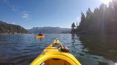 Kayaking in Deep Cove, Canada