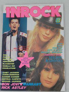 INROCK JAPAN Magazine JUN/1991 BON JOVI/WARRANT/MADONNA/GUNS N' ROSES/SKID ROW